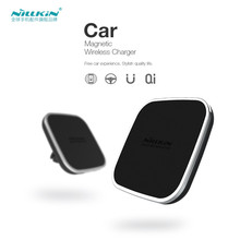 Nillkin car QI Wireless Charger Holder Magnetic Air Vent Mount pad for Samsung S6 S7 S8 Edge Note 5 for iPhone 7 7Plus 6 6 plus