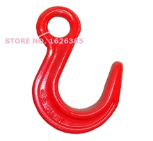 3.8--5.3Ton large opening eye foundry hook industrial grade lifting rigging hardware forged alloy steel hoist hook crane chain