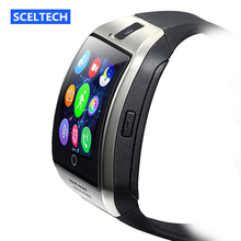 SCELTECH Q18 Passometer Smart watch Apro Q18s Support Bluetooth SIM GSM camera Support Android/IOS cell phone PK GT08 GV18 U8