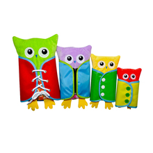 New 4 Pcs Owl Push Toy Learning Dressing Lacing Zipping Buckling Buttoning Practical Kids Toy Parent-child Activities Gift(China)
