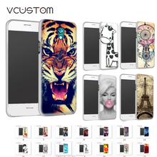 vcustom 1pcs/lot colorful oil painting sunflower 20design hybrid retail white plastic hard back cover case for sony Xperia x10(China)