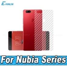 3D Carbon Fiber Rear Screen Protector ZTE Nubia Z11 Z17S Z17 Z18 mini S miniS Max V18 Back Cover Protective Film (Not Glass)