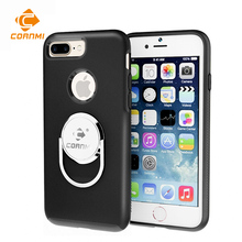 Dirt-resistant Stand Case For iPhone 8 Plus 7 Plus Cover Kickstand Back Housing Car Styling Car Holder Ring Shell CORNMI(China)