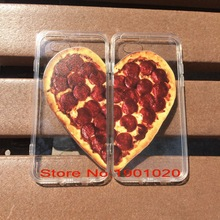 High Quality TPU+PC Material Pizza Heart BFF Case For Iphone 7,7 Plus Couple Printed Plastic Best Friend Pizza Phone Case Cover(China)
