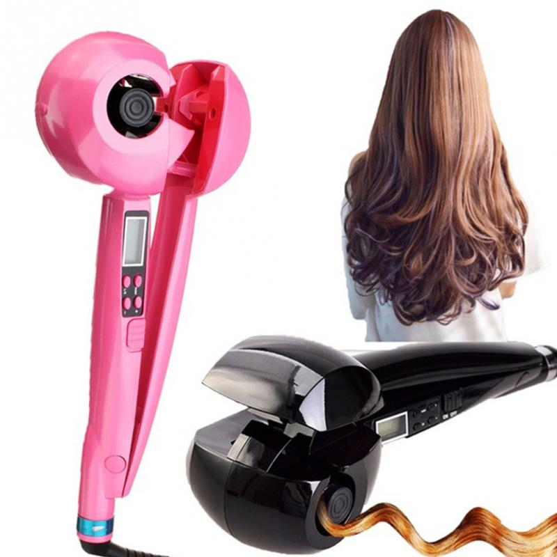 LCD Hair Curler Set Professional Automatic Hair Curling Curler Roller Wave Machine Styler Tool EU/US/UK Plug P002#<br>