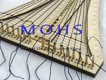 updated version ancient sailing model rope ladder weaver rope crochet COMBO wood scale model ship wooden sailing ship tools(China)