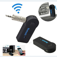 Hot 3.5mm Mini AUX Bluetooth Wireless Stereo Audio Music Receiver Adapter for iPhone iPod 6T2C