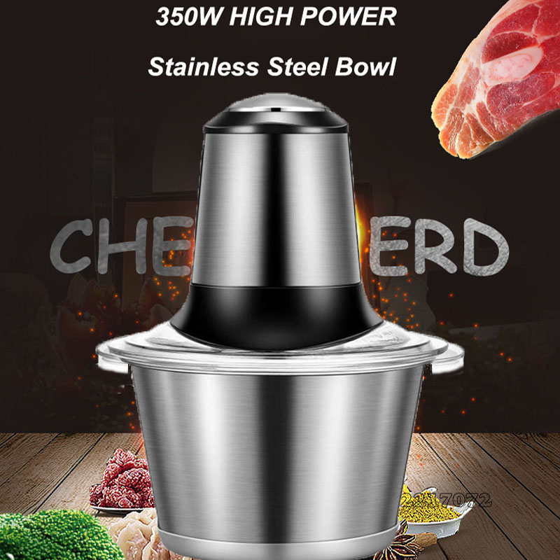 2L New Household Multifunction Meat Grinder High Quality Stainless Steel Blade Home Cooking Machine Mincer <br>