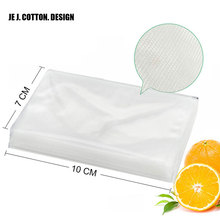 100 Pieces 7*10 CM Vacuum Packer Bags for Food Best Quality 7*10CM Vacuum Sealer Packing Machine Bag(China)