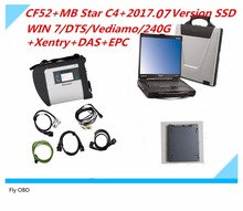 Best For Mercedes Compact Diagnose MB Star C4 with CF52 Laptop and 2017.07 Newest SSD Software DTS Monaco+ vediamo +xentry+DAS