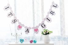 New Arrival 1 X It's A Girl Banner Baby Announcement Sign Baby Shower Garland Party Decorations Kids Event & Party Supplies