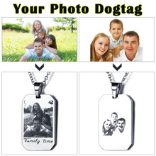 Free Engraving Stainless Steal Unisex Pendants Necklaces Custom Photo Engraving Father's Day Christmas Gift(JewelOra NE101321)(China)