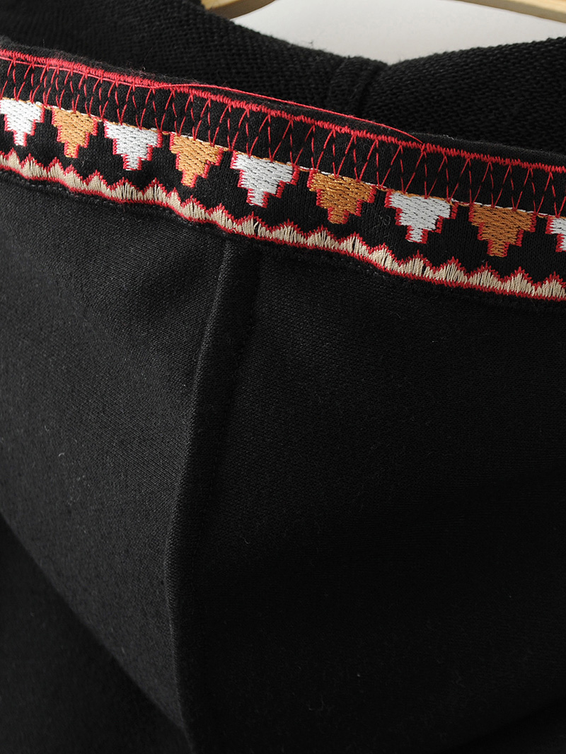 ShejoinSheenjoy Hooded Long Sleeve Loose Hoodies Women Fashion Black Vintage Floral Geometric Embroidery Sweatshirt Pullovers (24)