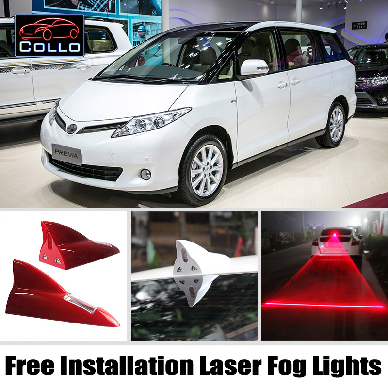 Free Installation For Toyota Previa / Canarado / Estima / Tarago / Newest Solar Energy Shark Fin Laser Fog Lights / Warning Lamp<br><br>Aliexpress