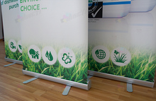 Free shipping - 85X200CM Roll up Retractable Display Stand Banners(China)