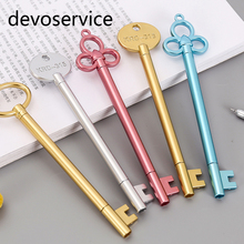 4Pcs/lot Vitage Keys Design Gel Pen Set Kawaii Stationery Pens Canetas Material Escolar Office School Supplies Stationary Gifts