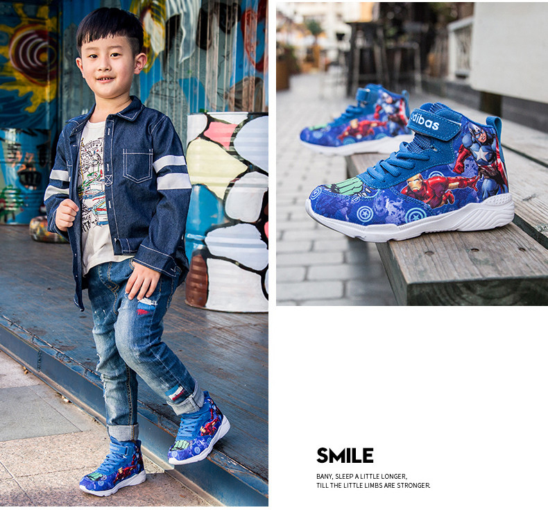 Kids Sneakers For Boys Basketball Shoes Running The Avengers Baby Casual Children shoes Sport boot Cartoon gamin chaussure (7)