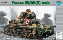 Trumpeter model plastic scale model 1/35 00351 france 35/38(H) tank Assembly Model kits Modle building scale model tank kit(China)