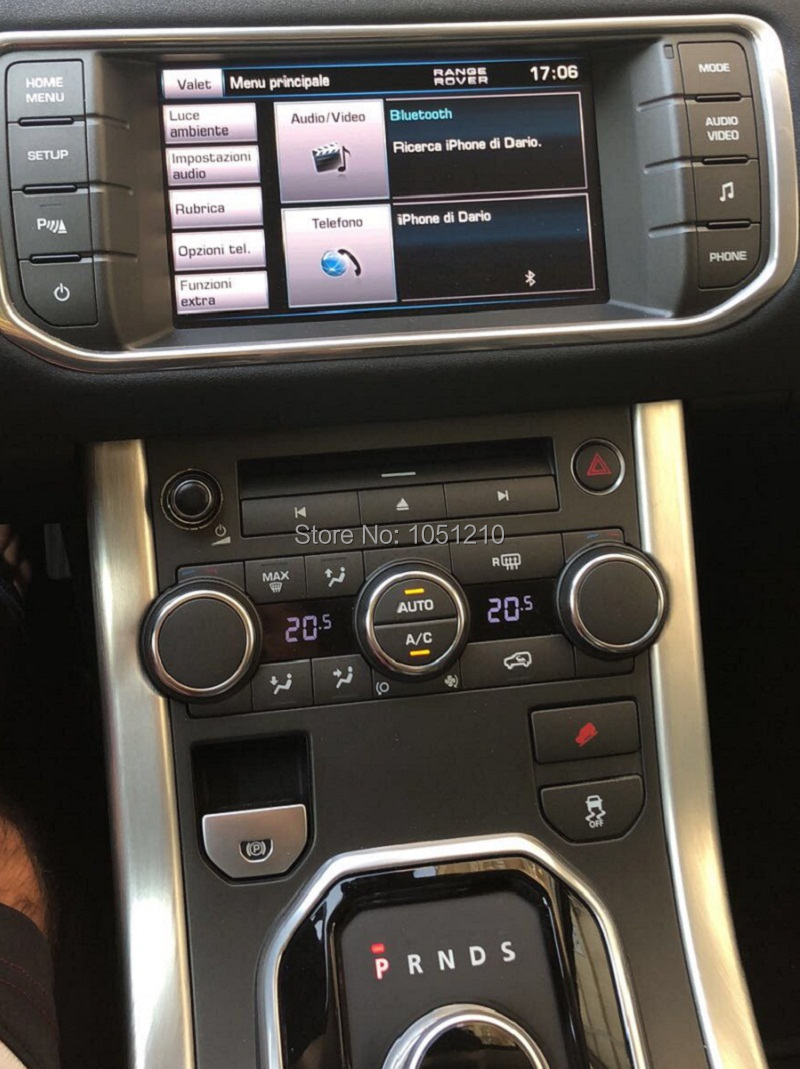 land rover evoque 2013, meridian system,Resistive screen---Italy