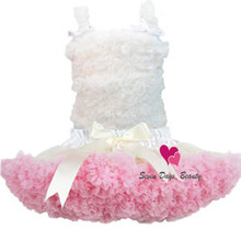 Children clothes chiffon ruffle Tutu dresses for girls ballet baby girl dance dress pettiskirt(China)