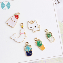 Homemade DIY accessories alloy pendant Pendant Bracelet hair oil pot dolphin meat cat
