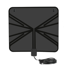 LAN-1040 Amplified HDTV Antenna Indoor Digital TV Antenna 50m with Power Supply Amplifier for HDTV / DTV F Connector US Plug
