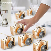 Ourwarm 50pcs Gift Bag and Compass for Wedding Decoration Baby Shower Birthday Celebration Hawaii Carnival Party Supplies