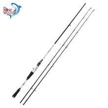 Professional Fishing Tackle 2.1m 7' M&MH Two Rod Tip Travel Spinning Rod Baitcasting Rod High Carbon Saltwater Fishing Pole