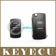 High Quality Replacement Shell Modified Folding Flip Remote Key Case Fob 2 Button Refit For MITSUBISHI Uncut Left Blade
