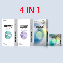 Buy JISSBON ZERO 4 IN 1 Ultra Thin Condoms Super Moist Extra Lubrication Female Condoms Sex 24pcs/pack Men Women Lube Condom