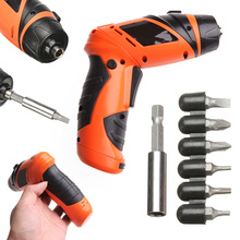 6V Mini Portable Electric Drill Battery Cordless drill bits Screwdriver DIY Power Drilling for Hand Drills