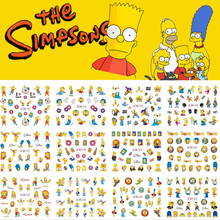 12 Designs Family Homer Cute Nail Sicker Water Transfer DIY Image Nail Art Sticker Nail Decals Nail Art Decorations BN445-456