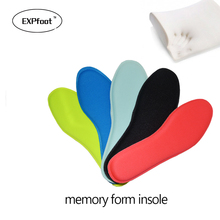 one pair Memory Foam Shoe Insoles Breathable Absorbing Arch Soft Comfortable Athletic Insole Shock Sport Shoes Pad Pain Relief(China)
