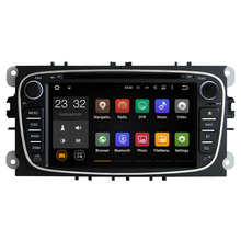 Quad Core 1024*600 Android 7.1 2 Din Car DVD GPS For Ford Focus Mondeo S-Max C-Max 2008 2009 2010 with Can bus 1080P Video Audio