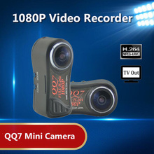 QQ7 Spied Camera 1080P Full HD Portable Micro Camera Mini DV DVR Night Vision Spied Camera with 170 Wide Angle Digital Cameras