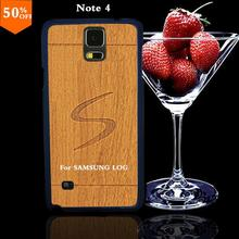 2016 wood case for samsun samsung galaxy note4 note 4 wood skin case with hard by wooden cover mobile phone covers