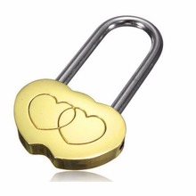 1 PCS Mini Padlock Love Lock Engraved Double Heart Valentines Anniversary Day Gifts Beautiful Design Modern Style