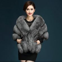 2016 Latest Winter Faux Fur Coats luxury fox fur imitation mink fur poncho bridal wedding dress shawl cape women vest fur coat(China)