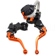 "FXCNC 7/8"" 22MM Universal Motorcycle Adjustable Master Cylinder Hydraulic Brake Clutch Levers For KTM 125-300CC 200CC 250CC(China)"