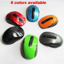 Portable Optical Wireless Mouse USB Receiver RF 2.4G For Desktop & Laptop PC Compute Peripherals Accessories 6 colors(China)