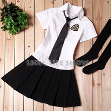 England Schoolgirl School Maid Costume Cosplay Costume Student Uniform Set