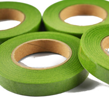 Green paper floriculture tape for DIY silk flower 1.2*30yadrs/roll