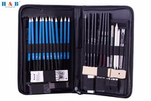 Free Shipping Graphite Drawing Pencils and Sketch Set (40-Piece Kit), Complete Artist Kit(China)