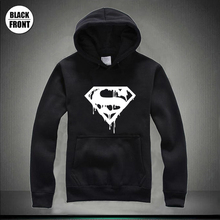 Superman Die Anime Logo Print Women Hoodies Printed Female Black Cat Hoodie Sweatshirt Jumpers Winter Hooded Clothes Swag
