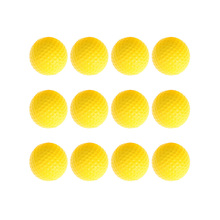 12pcs Golf Training Balls Yellow Soft Rebound PU Ball Indoor Sport Training Practice Golf Sports Elastic PU Foam Balls(China)