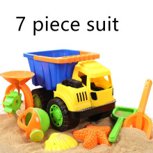7 Piece Set High quality Children play sand beach toys car sand tools truck set dredging Playsets hourglass playing is not bad