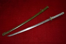 Collectable WWII Japanese Samurai  Katana/ DAO/sword,silver handle,Emperor Showa seventeen years