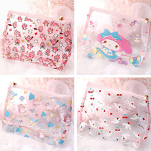 New 28CM Transparent Little Twin Stars My Melody Waterproof Bag Comestic Bags for Girls Swim Phones Accessories(China)