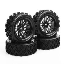 1/10 Scale RC Off Road Car Model Toys Accessory 4pcs/set Rubber Tires And Wheels Model Free Shipping