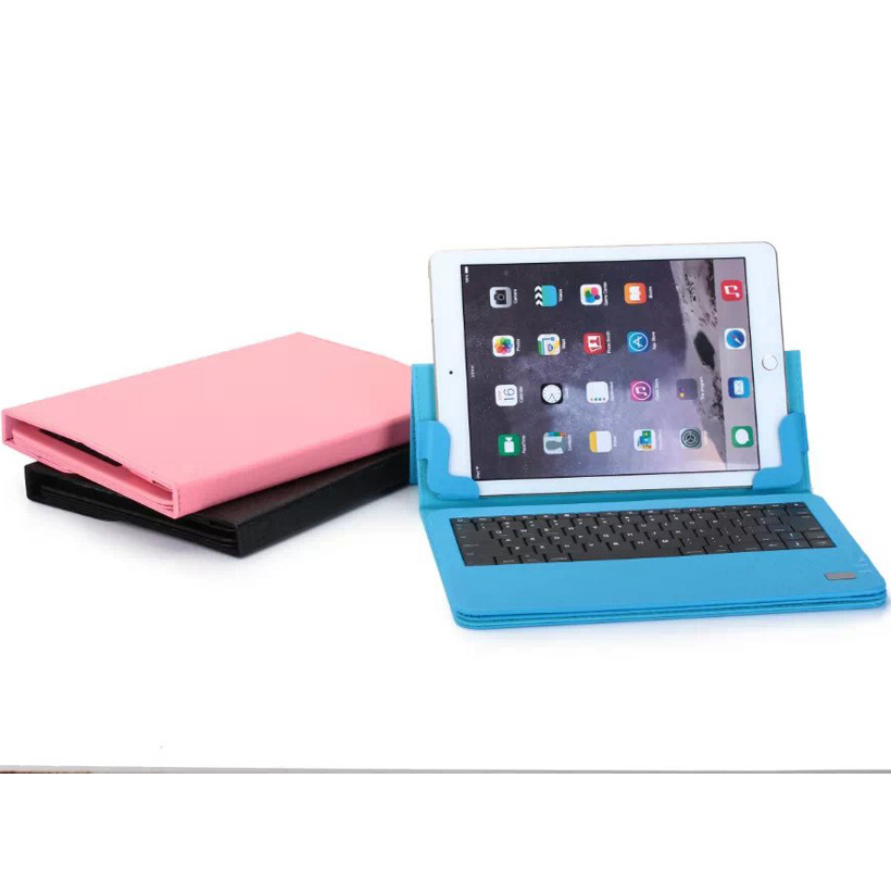 High quality 10 -11 inch Universal wireless Bluetooth Keyboard with Holder Holster +PU for ipad mini samsung Tablet PC F86<br>
